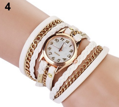 Hot new fashion watches women wrist watches, leather bracelet rivet